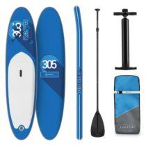 Klarfit Spreestar, nafukovací paddleboard, SUP-Board-Set, 305 x 10 x 77 cm, modrý