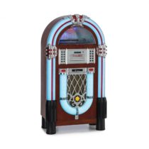 Auna Graceland DAB, jukebox, BT, CD, vinyl, DAB+/FM, USB, SD, AUX vstup, LED svetlo