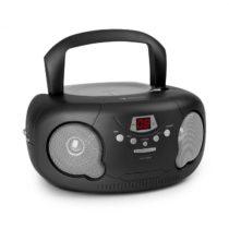 Auna Black Bonbon CD Boombox, CD prehrávač, bluetooth, FM, AUX-IN, LED displej, čierny