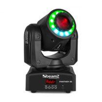 Beamz Panther 35, LED bodová pohyblivá hlava, 35 W biela LED dióda, 12 RGB SMD LED diód, čierna