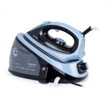 Klarstein Speed Iron V2, naparovacia žehlička, 2100 W, 1100 ml, EasyGlide, čierna/modrá