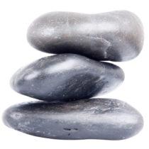 Lávové kamene inSPORTline River Stone 10-12 cm - 3 ks