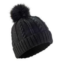 WEDZE Pletená čiapka Fur čierna