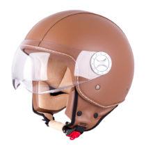 Helma na skúter W-TEC FS-701B Leather Brown