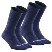 QUECHUA Vysoké Hrejivé Ponožky Sh100
