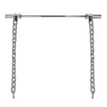 Vzpieračské reťaze s tyčou inSPORTline Chainbos Set 2x25 kg