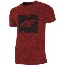 4F PÁNSKE TRIČKO červená S - Pánske tričko
