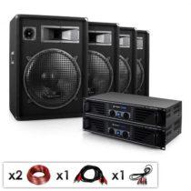 "Electronic-Star Kompletná DJ PA sada ""Miami Quasar Pro"", 2 x zosilňovač, 4 x repro..."
