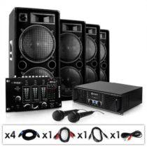 """Electronic-Star Set """"Bass brigáda USB"""" Set, zesilovač, repro, mixpult, 4000W"""