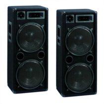 Omnitronic DX 2222, pár DJ PA reproduktorov, 2000 W, 2 poschodia