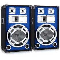 Skytec pár 30 cm PA reproduktorov, svetelný efekt modrý, 2 x 600 W reproduktory