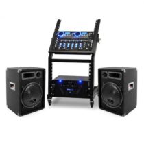 Ibiza DJ reproduktorový set Rack Star Uranus Blues 250 ľudí