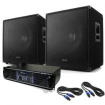 """Electronic-Star DJ PA set """"Lewis 1200 Bass Tornado"""", 38 cm, 1200 W"""