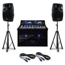 "Electronic-Star DJ PA SET ""Punch Line"", s výkonom až 1200 W, pre podujatia a"