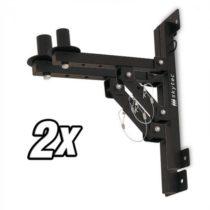 Skytec 2x nástenný držiak PA reproduktorov, statív,čierny, 50kg max