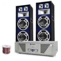 "Electronic-Star DJ PA set ""Bass TiTan"", zosilňovač, reproduktory, 1600 W"