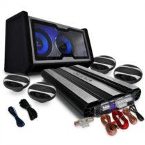 Auna Black Line 600, auto HiFi set, 4.1 systém, zosilňovač, 4 x reproduktor, subwoofer 30 cm (12&...