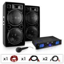 Electronic-Star DJ PA set DJ–26, zosilňovač, PA repro, mikrofón, 2000 W