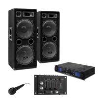 "Electronic-Star DJ PA set ""DJ–27"", zosilňovač, PA repro, 2000W, USB, SD, MP3"