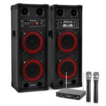 """Electronic-Star Karaoke set """"STAR-Köpenick"""" PA reproduktory, bezdrôtový mikrofón, ..."""