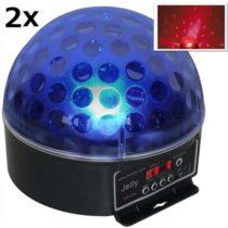 "2 x DJ guľa ""Beamz Magic Jelly"" LED svetelný efekt, RGB, DMX"
