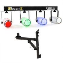 Beamz 4-Some Clear II, osvetľovací set, 5-dielny + nástenný držiak