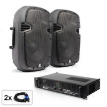 "Electronic-Star PA Set ""SPJ Boom 10MKII"", dva 25 cm reproduktory & 800 W z..."