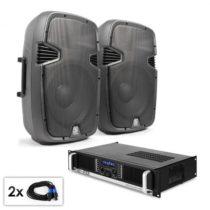 "Electronic-Star PA Set ""SPJ Boom 12MKII"", dva 30 cm reproduktory & 1200 W ..."