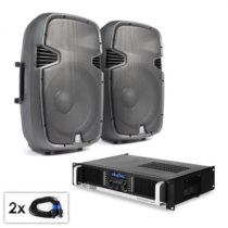 "Electronic-Star PA Set ""SPJ Boom 15MKII"", dva 38 cm reproduktory & 1500 W ..."