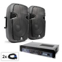 "Electronic-Star PA Set ""SPJ Boom 12"", dva 30cm reproduktory & 1200W zosilň..."
