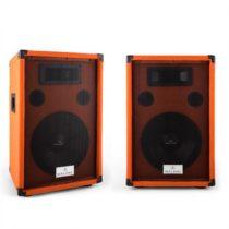 """Malone Beatamine-D, pár PA reproduktorov 25 cm, 10"""", 200 W RMS, 400 W max., oranžová"""