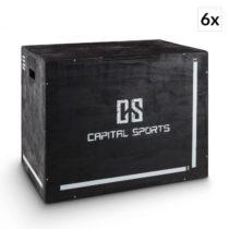 """Capital Sports Shineater BK, čierny, set plyoboxov, boxy na skákanie, 3 výšky 20"""", 24&q..."""