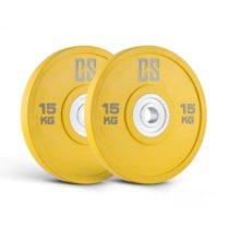 Capital Sports Performan Urethane Plates, žlté, 15 kg, pár kotúčových závaží