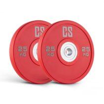 Capital Sports Performan Urethane Plates, červené, 25 kg, pár kotúčových závaží