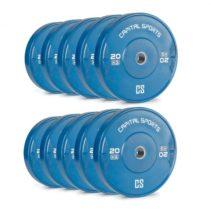Capital Sports Nipton Bumper Plates, modré, 5 párov, 20 kg, tvrdá guma