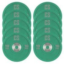 Capital Sports Performan Urethane Plates, zelené, 10 kg, 5 párov, kotúčové závažia