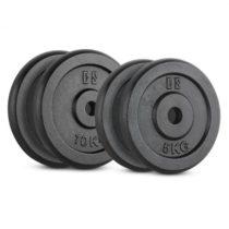 Capital Sports IPB 30 kg Set, sada závaží na činky, 2 x 5 kg + 2 x 10 kg, 30 mm