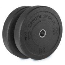 Capital Sports Renit, hi temp gumový kotúč, 50,4 mm, hliníkové jadro, guma, 2 x 20 kg