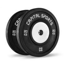 Capital Sports Inval, súťažné bumper kotúče, 50 mm, hliníkové jadro, 2 x 20 kg