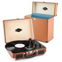 Auna Peggy Sue Record Collector, hnedá, gramofónová sada, retro gramofón + kufor na platne