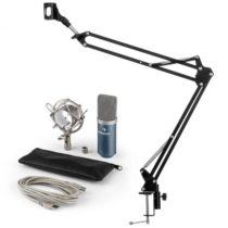 Auna MIC-900BL USB mikrofónová sada V3 kondenzátorový mikrofón + mikrofónové ramenomodrá farba