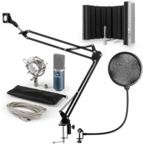 Auna MIC-900BL USB mikrofónová sada V5 kondenzátorový mikrofón, pop filter, mikrofónový absorbčný pa...