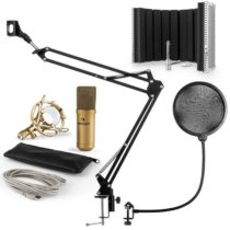 Auna MIC-9005G V5, mikrofónová sada, kondenzátorový mikrofón, pop-filter, resorpčný panel, rameno, z...