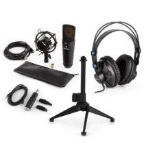 Auna MIC-920B USB mikrofónová sada V2 - slúchadlá, kondenzátorový mikrofón, mikrofónový stojan, pop ...
