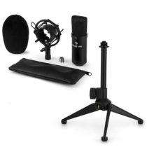 Auna CM00B mikrofónová sada V1 - čierny štúdiový mikrofón s pavúkom a stolným stojanom