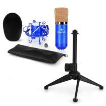 Auna CM00BG mikrofónová sada V1 - čierno-zlatý štúdiový mikrofón s pavúkom a stolným stojanom
