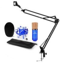 Auna CM001BG V3, modrá, mikrofónová sada, XLR kondenzátorový mikrofón, rameno