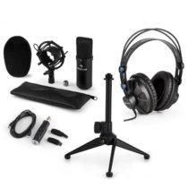 Auna CM001B V1, mikrofónová sada, slúchadlá + kondenzátorový mikrofón sUSB adaptérom + statív, čier...