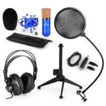 Auna CM001BG V2, mikrofónová sada, slúchadlá + kondenzátorový mikrofón spop-filtrom aUSB adaptérom...