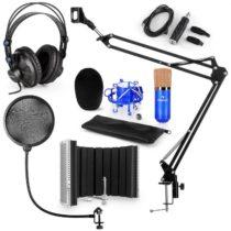 Auna CM001BG mikrofónová sada V5 slúchadlá, USB konvertor, mikrofónové rameno, pop filter, panel, mo...